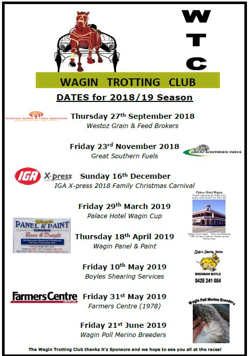 Wagin Trotting 2018 - 19 Season