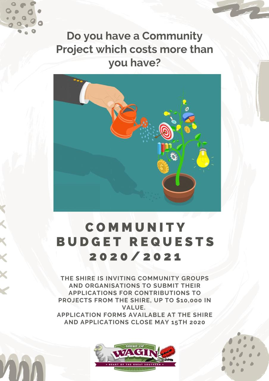 Community Budget requests 2020 / 2021 are now open